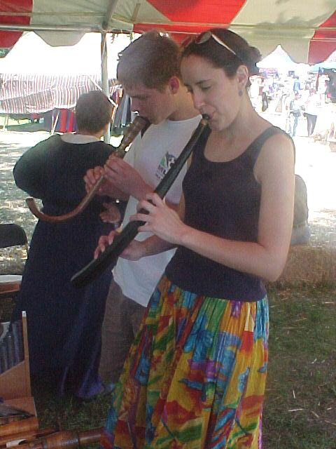 New friends playing instruments