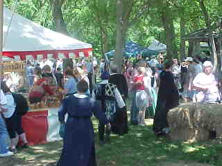antiqua members among the faire crowd
