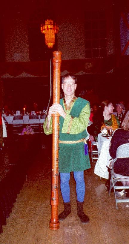 Alan at the madrigal dinner