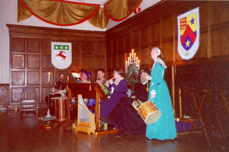 Antiqua performers at the 2001 madrigal dinner