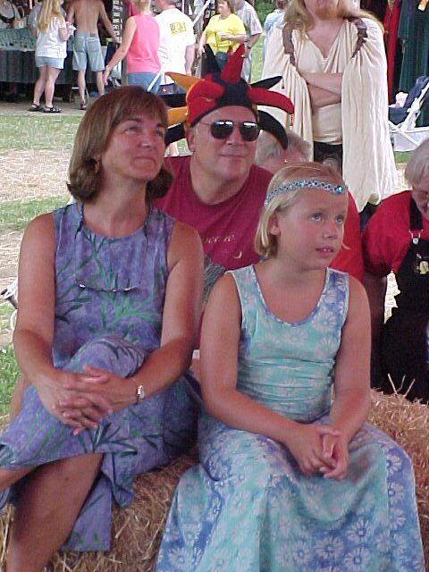family enjoying antiqua's music