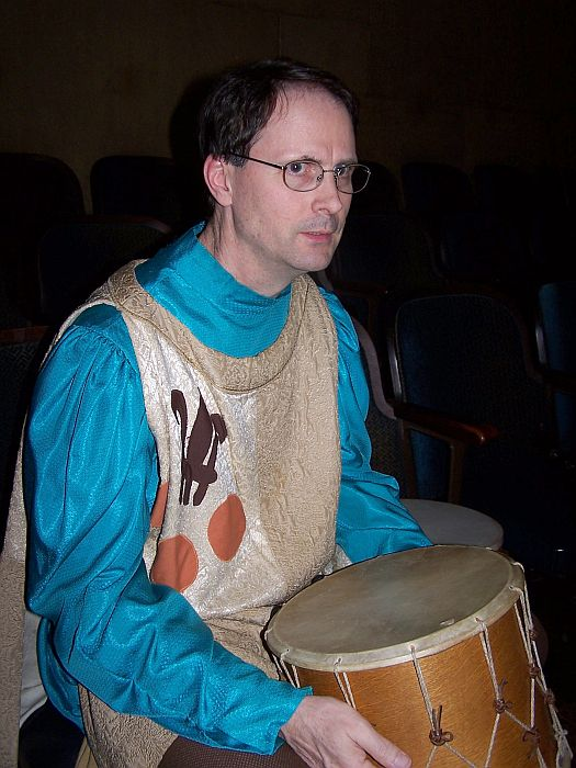 Steve with a drum