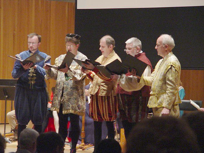 the Music men performing