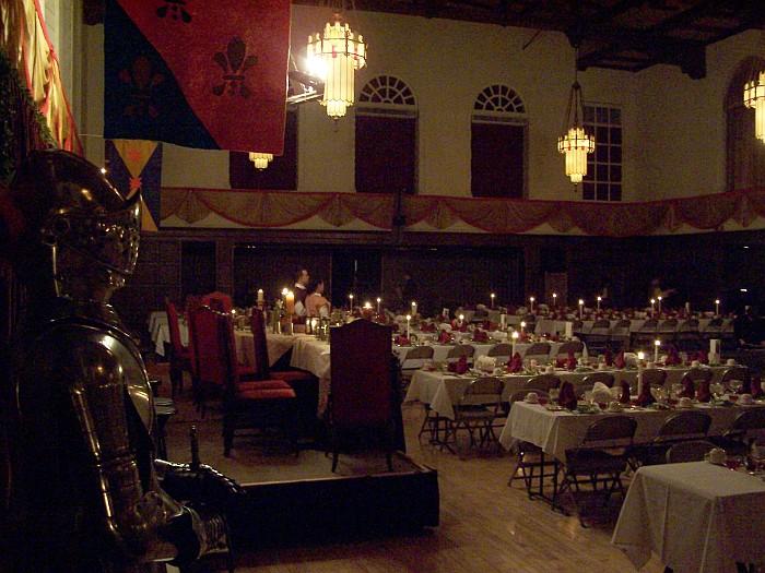 Madrigal dinner set up