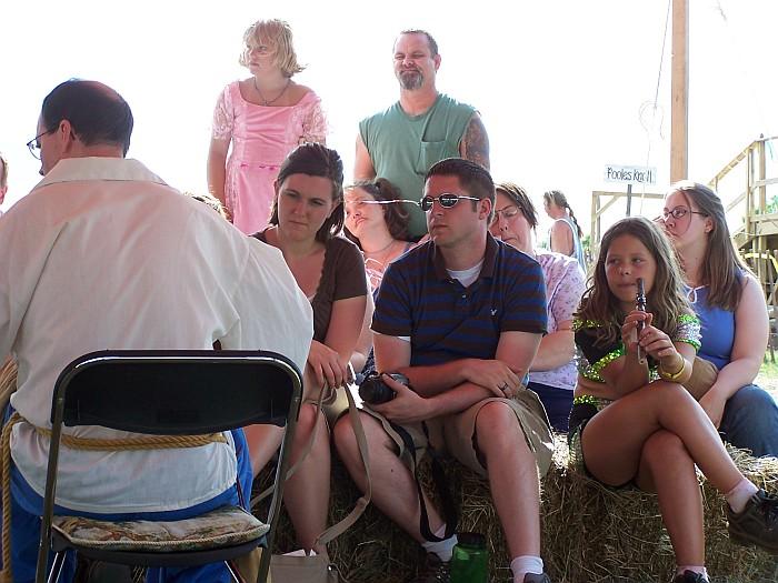 Crowd watching Steve play