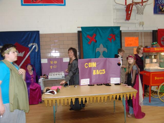 Students at the renaissance fair