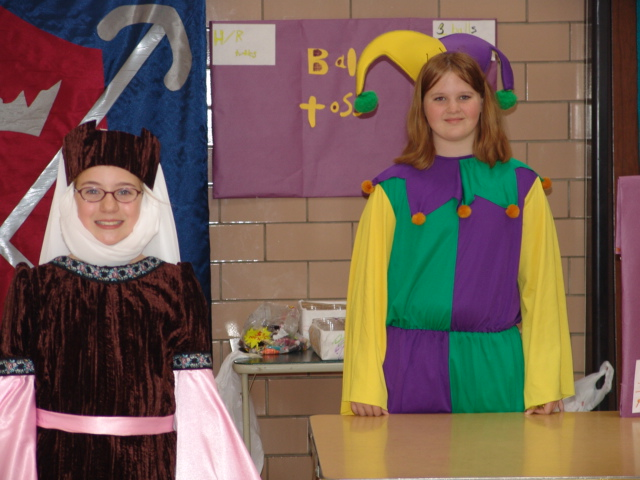 Dressed up students smile for the camera