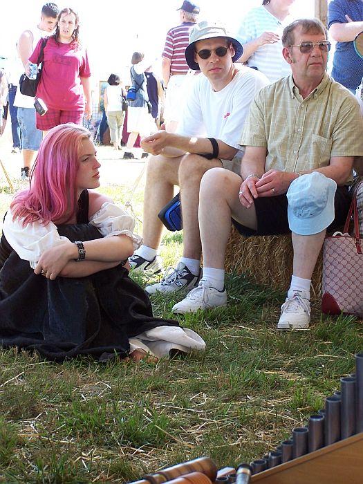 audience members listening