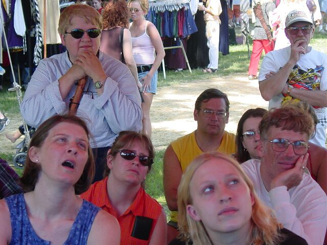 audience members listening intently