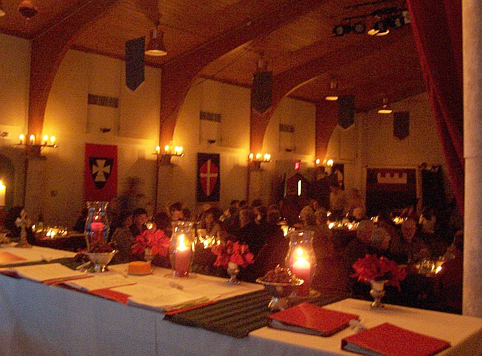 Beautifully decorated banquet hall
