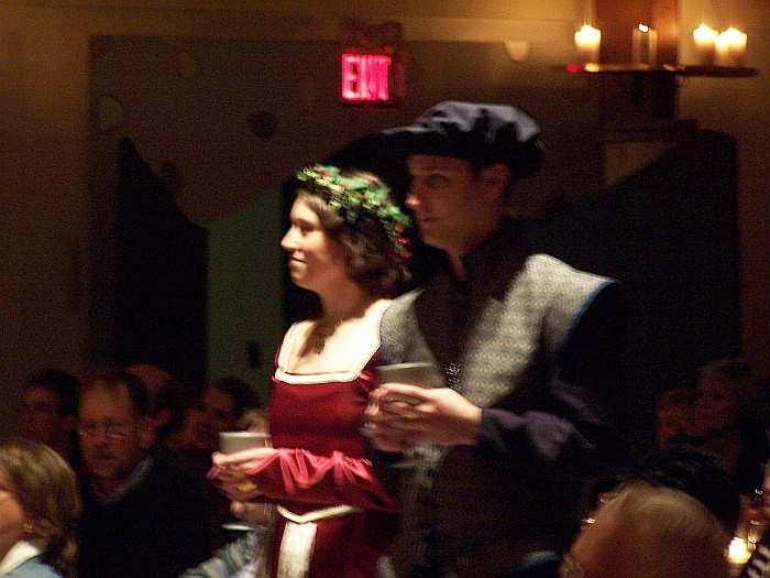 Performers in the audience