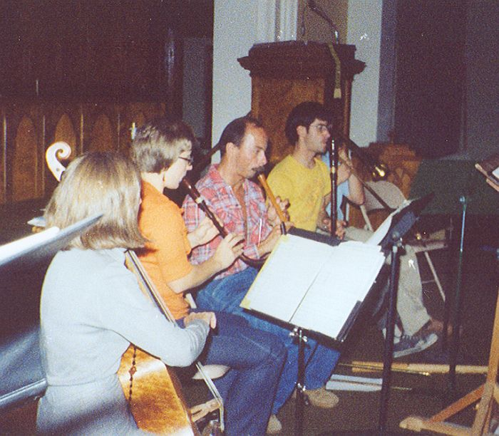 Antiqua members rehearsing for their upcoming performance