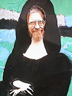 Doc in mona lisa painting cut out