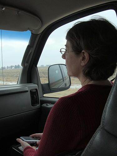 Valerie navigating