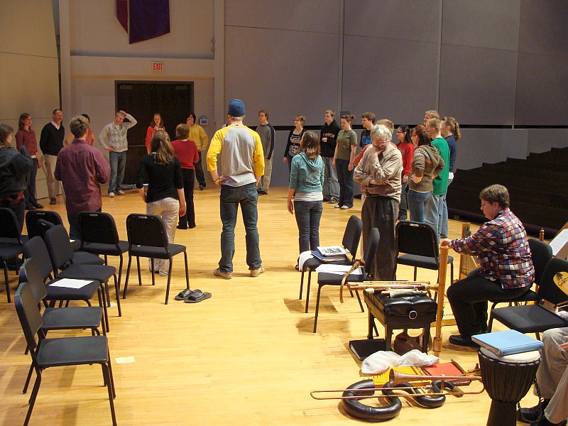 Antiqua observes students dancing