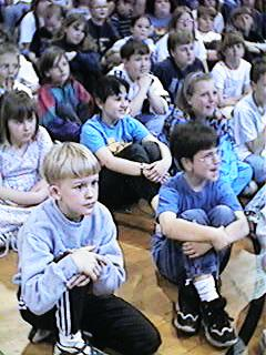 Kids watching performance