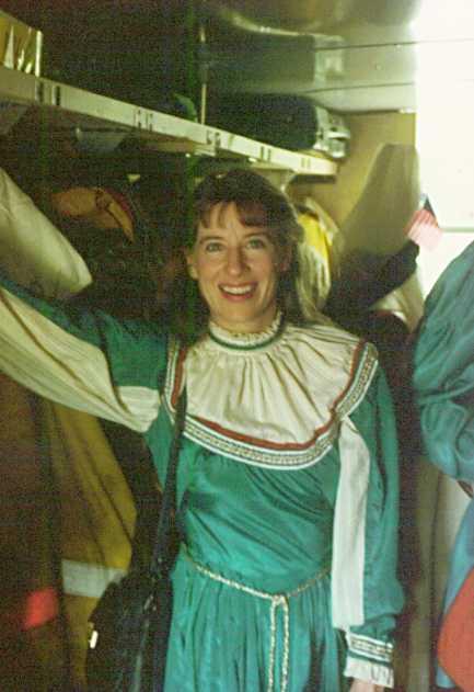 Valerie in the equipment truck