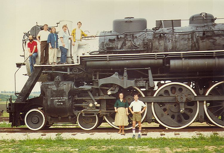 Group photo on the Purple Martin train