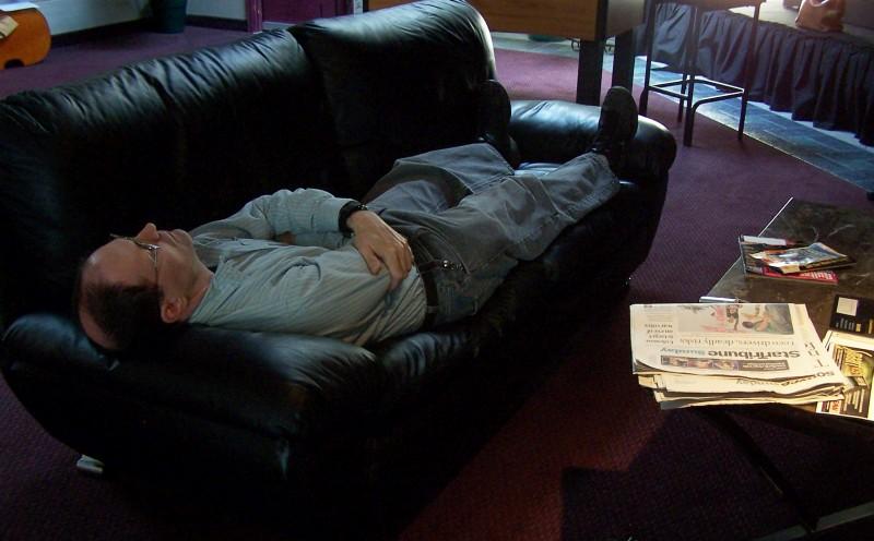 Steve resting