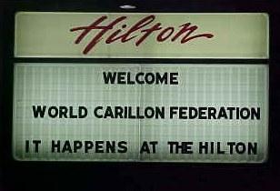 hilton hotel sign