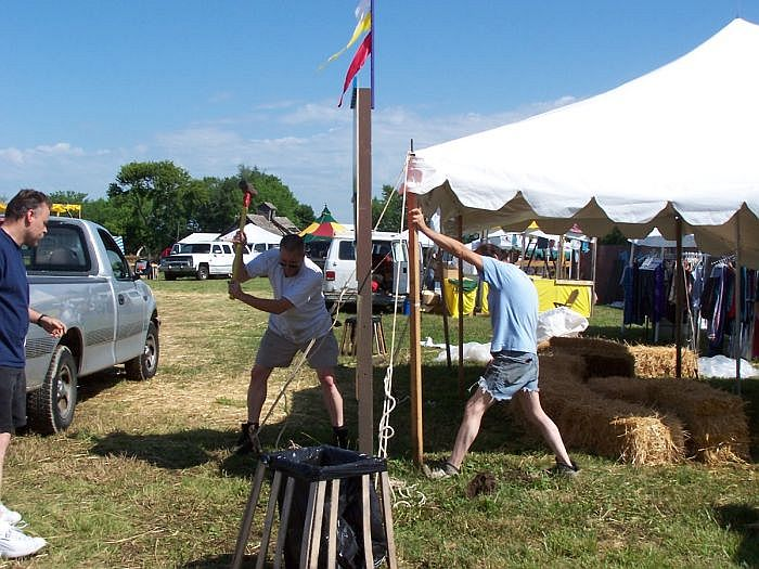 Rebuilding tent structures