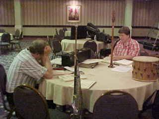 Antiqua members conversing