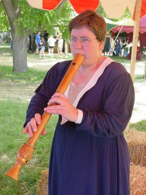 tenor recorder being played