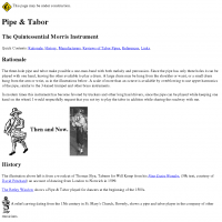 Pipe and Tabor: The Morris Instrument