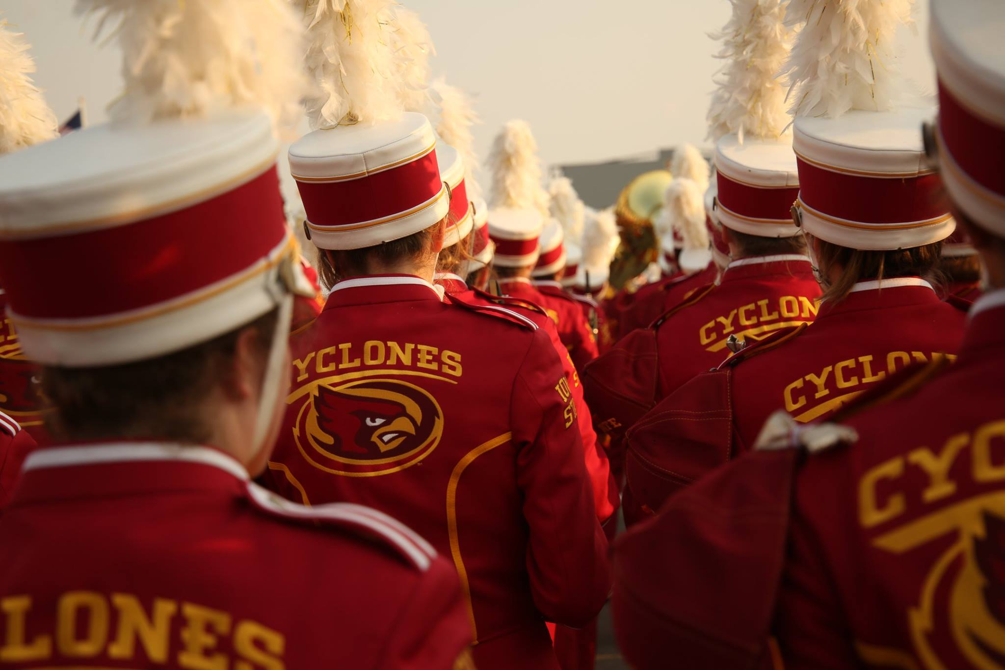 Back of marching band