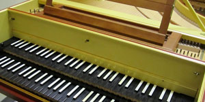 vintage lime green piano