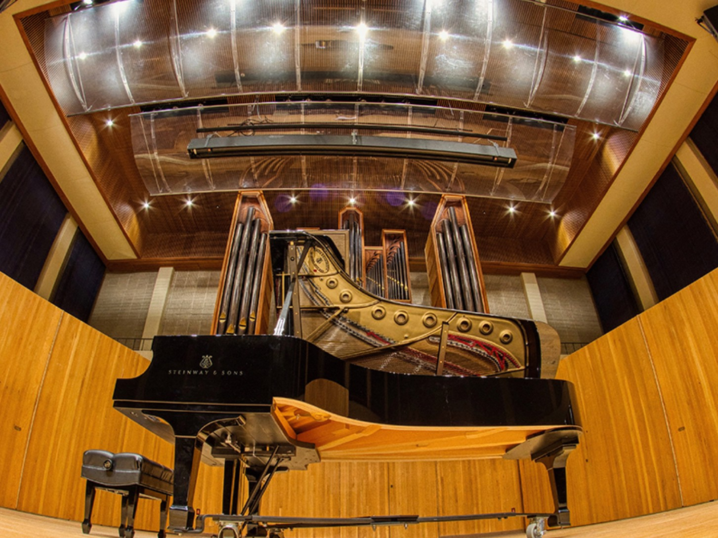 Steinway Piano in Matha-Ellen Tye Recital Hall