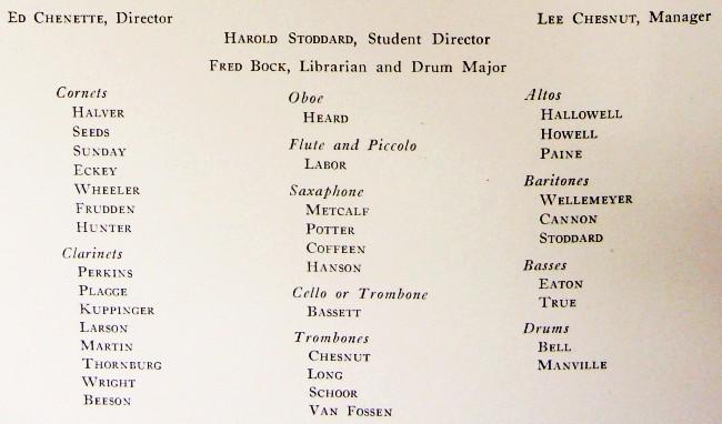 1920 Iowa State College Band Members