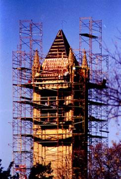 Campanile under construction