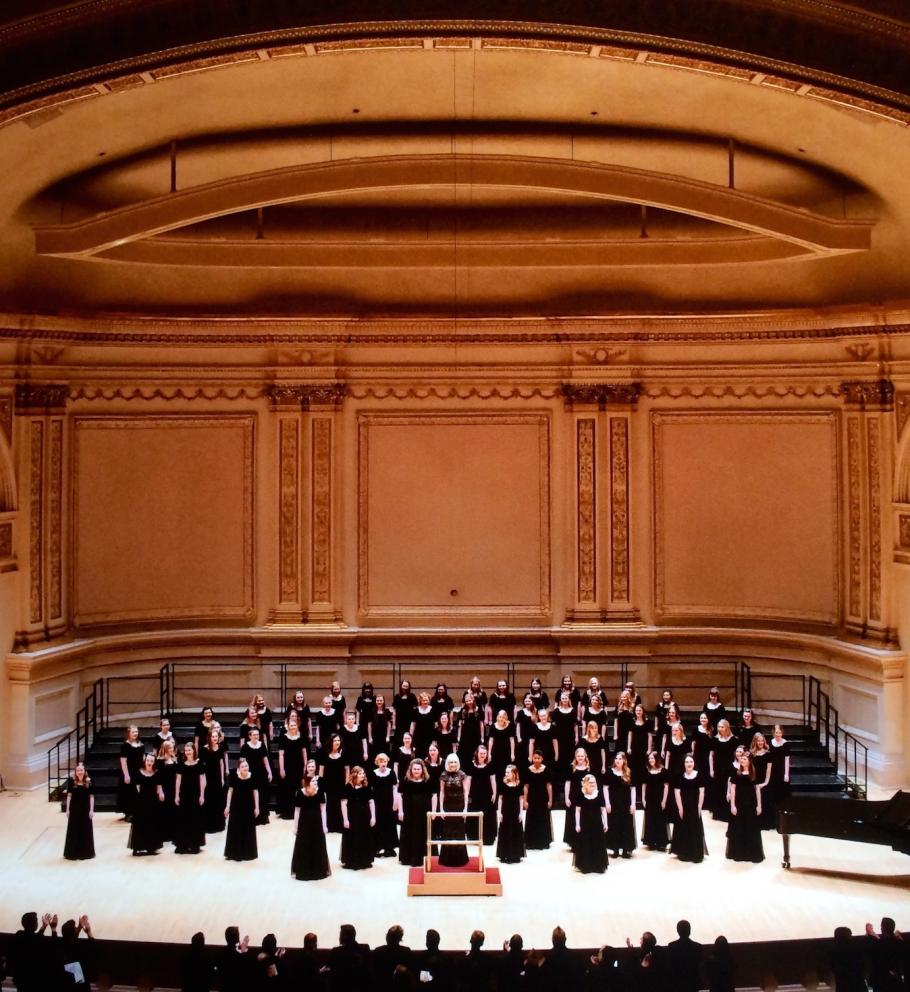 Choir Tour, 2018.  Carnegie Hall, New York City