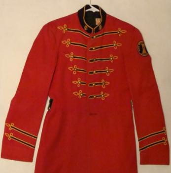 The 1950s Band uniform in red