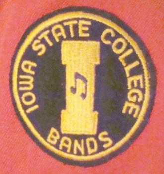 The Iowa State College Bands Arm Patch