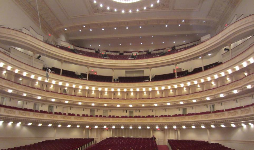 the inside of Carnegie Hall.