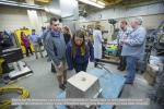 Visitors tour the Metalcasting Lab