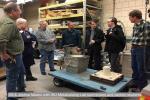 Bill & Joshua Meeks with ISU Metalcasting Lab technicians and carillon students