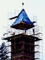 campanile under construction