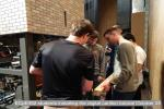 ECpE492 students installing the digital carillon tutorial October 25