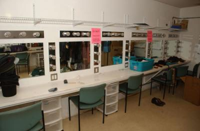 Fisher Theater dressing room