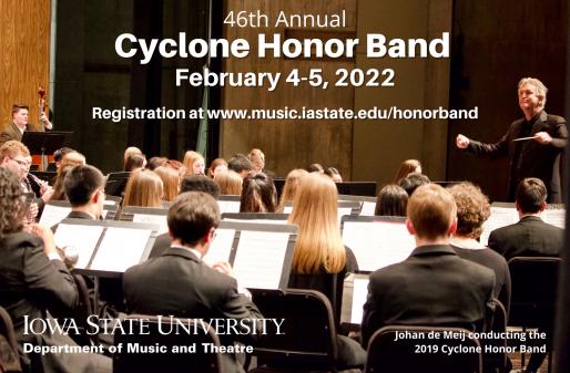 Cyclone Honor Band Friday-Saturday, February 4-5, 2022