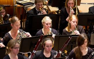 ISU concert band students