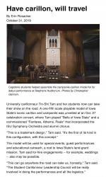 Have carillon, will travel