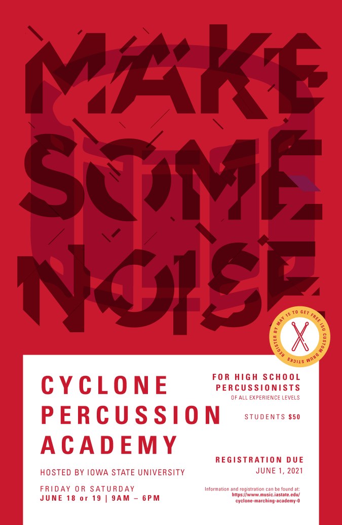 Cyclone Percussion Academy Poster