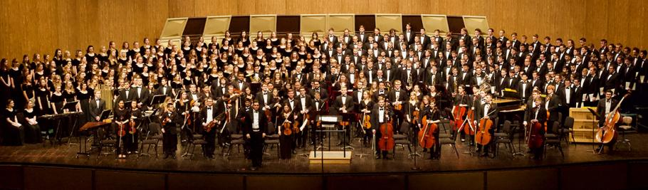 all choirs and orchestra at CY Stephens