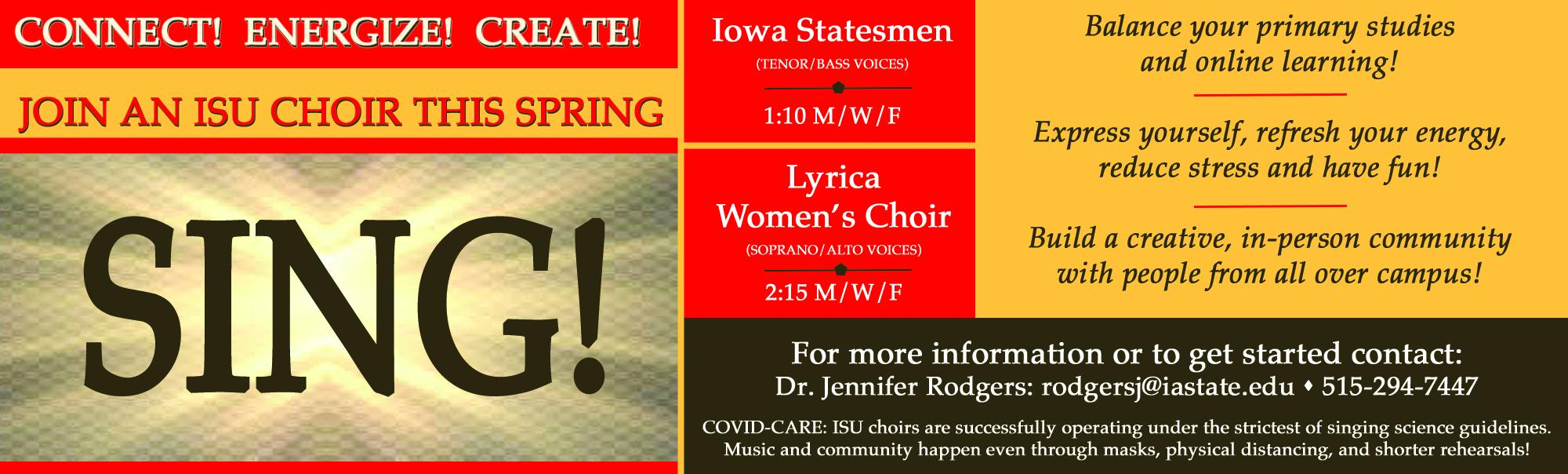 Join an ISU Choir