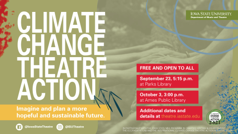 Poster for CLIMATE CHANGE THEATRE ACTION 2021.