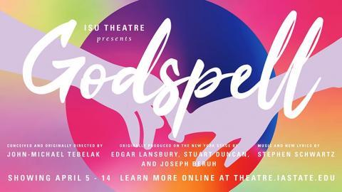 Poster for Godspell.